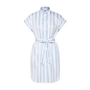 TOMMY HILFIGER Košeľové šaty svetlomodrá / biela vyobraziť