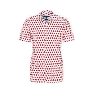 TOMMY HILFIGER Košeľa 'BOLD GEO' červené / biela vyobraziť