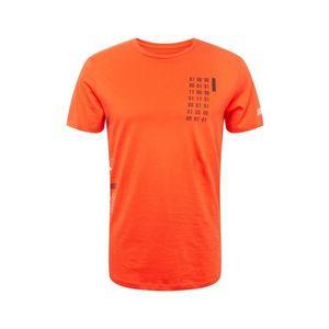 JACK & JONES Tričko 'BOOSTER FUT' oranžovo červená / čierna / biela vyobraziť