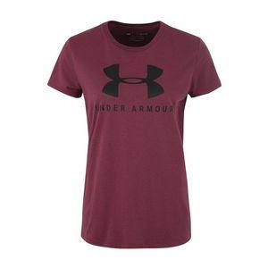 UNDER ARMOUR Funkčné tričko bordové / čierna vyobraziť