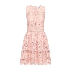 Carolina Cavour Kokteilové šaty 'Lace and embroidery' ružová vyobraziť