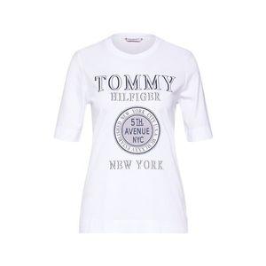 TOMMY HILFIGER Tričko 'DARCY C-NK TEE 1/2 SLV' biela vyobraziť