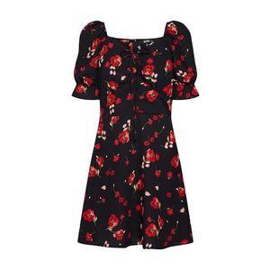 Missguided Šaty červené / čierna vyobraziť