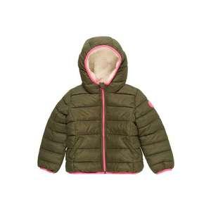 GAP Zimná bunda 'COZY PUFFER' zelená / ružová vyobraziť