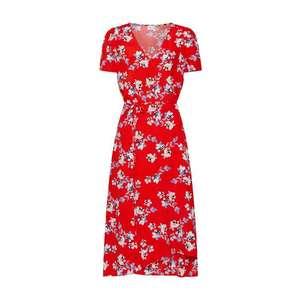 GAP Letné šaty 'MIDI WRAP DRS' červené vyobraziť
