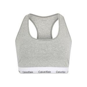 Calvin Klein Underwear Podprsenka 'UNLINED BRALETTE' sivá melírovaná vyobraziť