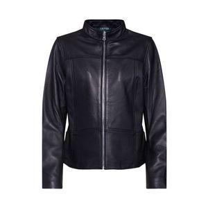 Lauren Ralph Lauren Prechodná bunda 'NEW LEATHER-JACKET' čierna vyobraziť