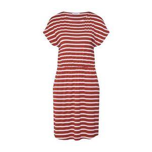 PIECES Letné šaty hrdzavo červená vyobraziť