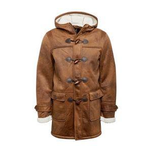 INDICODE JEANS Zimný kabát hnedé vyobraziť