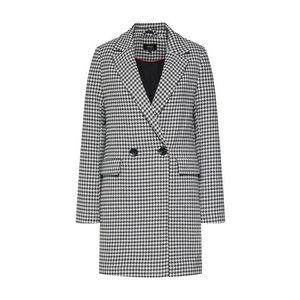 ONLY Prechodný kabát 'onlSELENA CHECK WOOL COAT CC OTW' čierna / biela vyobraziť
