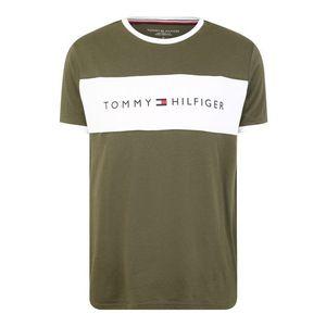 Tommy Hilfiger Underwear Dlhé pyžamo 'CN SS TEE LOGO FLAG' olivová / biela vyobraziť