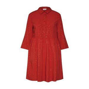 VILA Košeľové šaty 'VIGIULIA 3/4 SHORT DRESS/1' červené vyobraziť