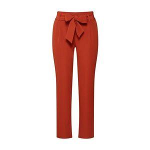 PIECES Plisované nohavice hrdzavo červená vyobraziť