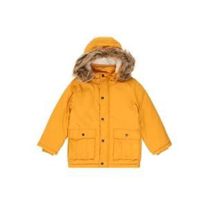 NAME IT Zimná bunda žlté vyobraziť