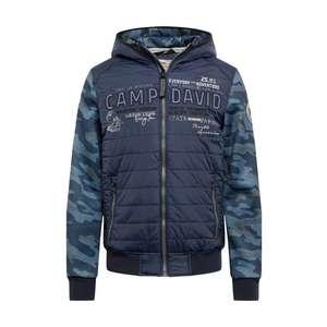CAMP DAVID Prechodná bunda 'jacket with hood' námornícka modrá vyobraziť