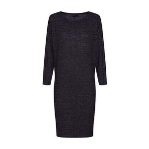 ONLY Pletené šaty 'onlKLEO 7/8 BAT DRESS KNT' tmavosivá vyobraziť