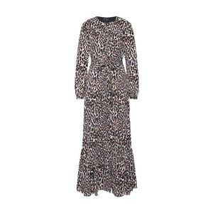 Banana Republic Košeľové šaty 'I LS BUTTON DOWN ANIMAL PRINT MAXI' béžová / čierna / biela vyobraziť