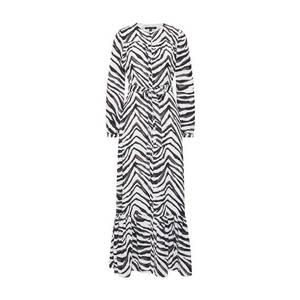 Banana Republic Košeľové šaty 'I LS BUTTON DOWN ANIMAL PRINT MAXI' čierna / biela vyobraziť