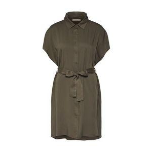 ARTLOVE Paris Košeľové šaty olivová vyobraziť