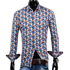 30016-EM-397 Extravagantná košeľa so vzorom papagája EGO MAN vyobraziť
