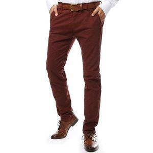 Elegantné červené chinos nohavice (ux2140) vyobraziť