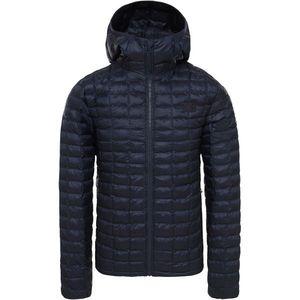 Prešívaná modrá bunda s kapucňou - 40 vyobraziť