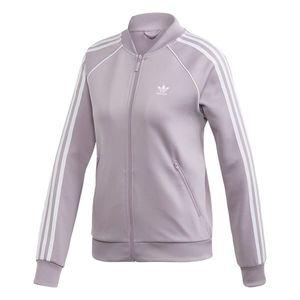 ADIDAS ORIGINALS Tepláková bunda pastelovo fialová / biela vyobraziť