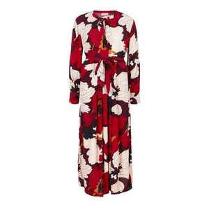 TRIANGLE Šaty červené / čierna / biela vyobraziť