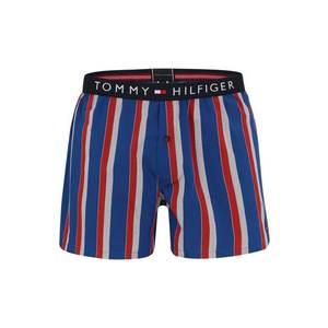 Tommy Hilfiger Underwear Boxerky 'WOVEN BOXER WIDE STRIPE' modré / červené vyobraziť