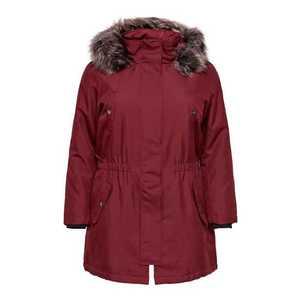 ONLY Carmakoma Zimný kabát 'carIRENA PARKA COAT 19' vínovo červená vyobraziť