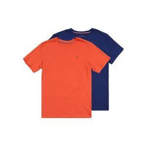 Tommy Hilfiger Underwear Pyžamo '2P CN TEE SS' tmavomodrá / tmavooranžová vyobraziť