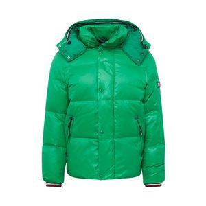 TOMMY HILFIGER Zimná bunda 'SHINY HOODED BOMBER' zelená vyobraziť