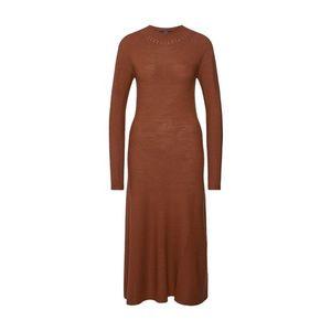 SET Pletené šaty hnedé vyobraziť