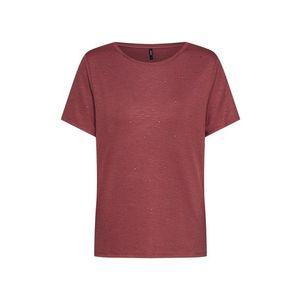 ONLY Tričko hrdzavo červená vyobraziť