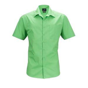 James & Nicholson Pánska košeľa s krátkym rukávom JN644 - Limetkově zelená | S vyobraziť