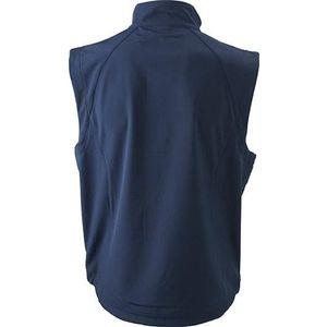 James & Nicholson Pánska softshellová vesta JN1022 - Tmavě modrá | L vyobraziť