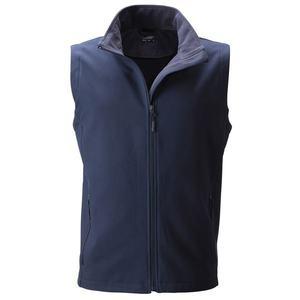 James & Nicholson Pánska softshellová vesta JN1128 - Tmavě modrá / tmavě modrá | S vyobraziť