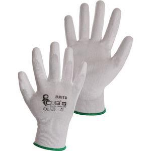 Canis Polomáčané rukavice BRITA - Bílá | 7 vyobraziť