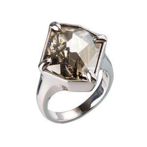 Strieborný prsteň s krištálmi šedý 35805.5 vyobraziť