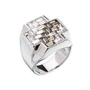 Strieborný prsteň s krištálmi čierny kríž 35811.3 vyobraziť