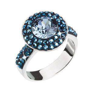 Strieborný prsteň s krištálmi modrý 35019.3 vyobraziť