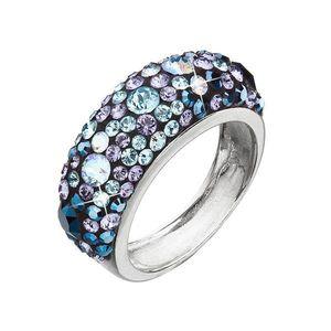 Strieborný prsteň s krištáľmi Swarovski modrý 35031.3 blue style vyobraziť