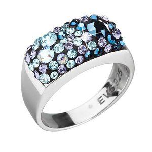 Strieborný prsteň s krištáľmi Swarovski modrý 35014.3 blue style vyobraziť