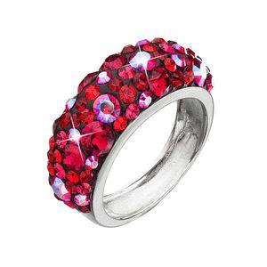 Strieborný prsteň s krištáľmi Swarovski červený 35031.3 cherry vyobraziť