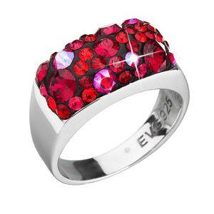 Strieborný prsteň s krištáľmi Swarovski červený 35014.3 cherry vyobraziť