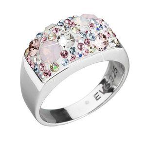 Strieborný prsteň s krištálmi Swarovski ružový 35014.3 magic rose vyobraziť