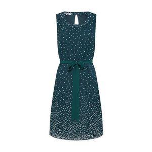ABOUT YOU Šaty 'Caroline' smaragdová / biela vyobraziť