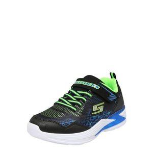 SKECHERS Tenisky modré / kiwi / čierna vyobraziť