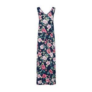JACQUELINE De YONG Letné šaty 'JDYSTAR S/L MAXI DRESS WVN FS' námornícka modrá / ružová vyobraziť