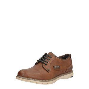 MUSTANG Šnurovacie topánky hnedé vyobraziť